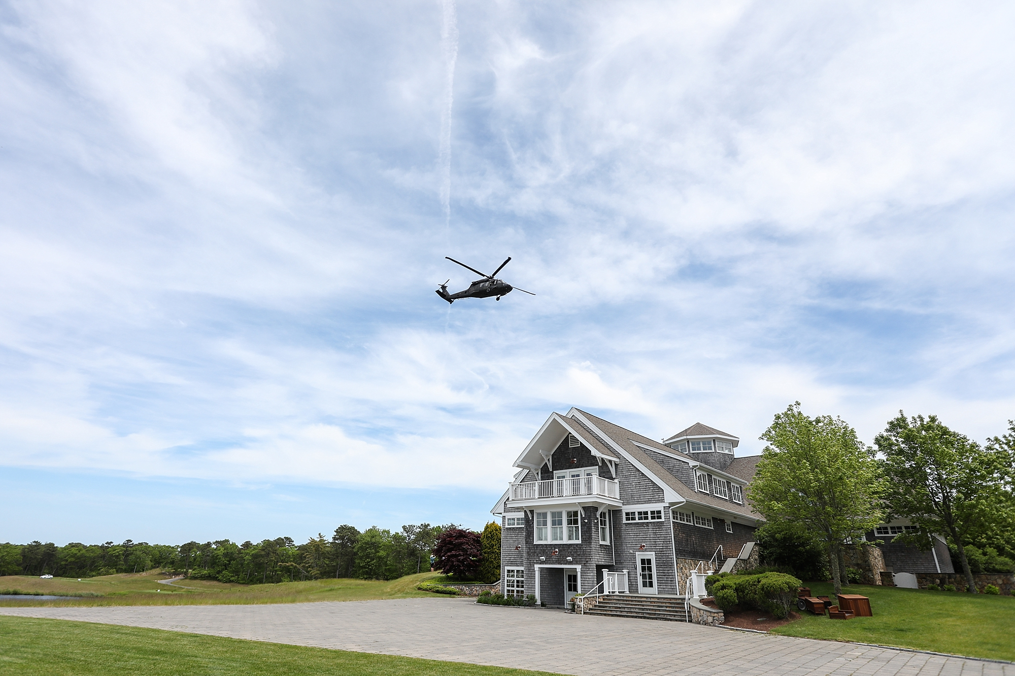 Promptly at 12:30, the Apache crew flew over the TGC at Sacconnesset Clubhouse