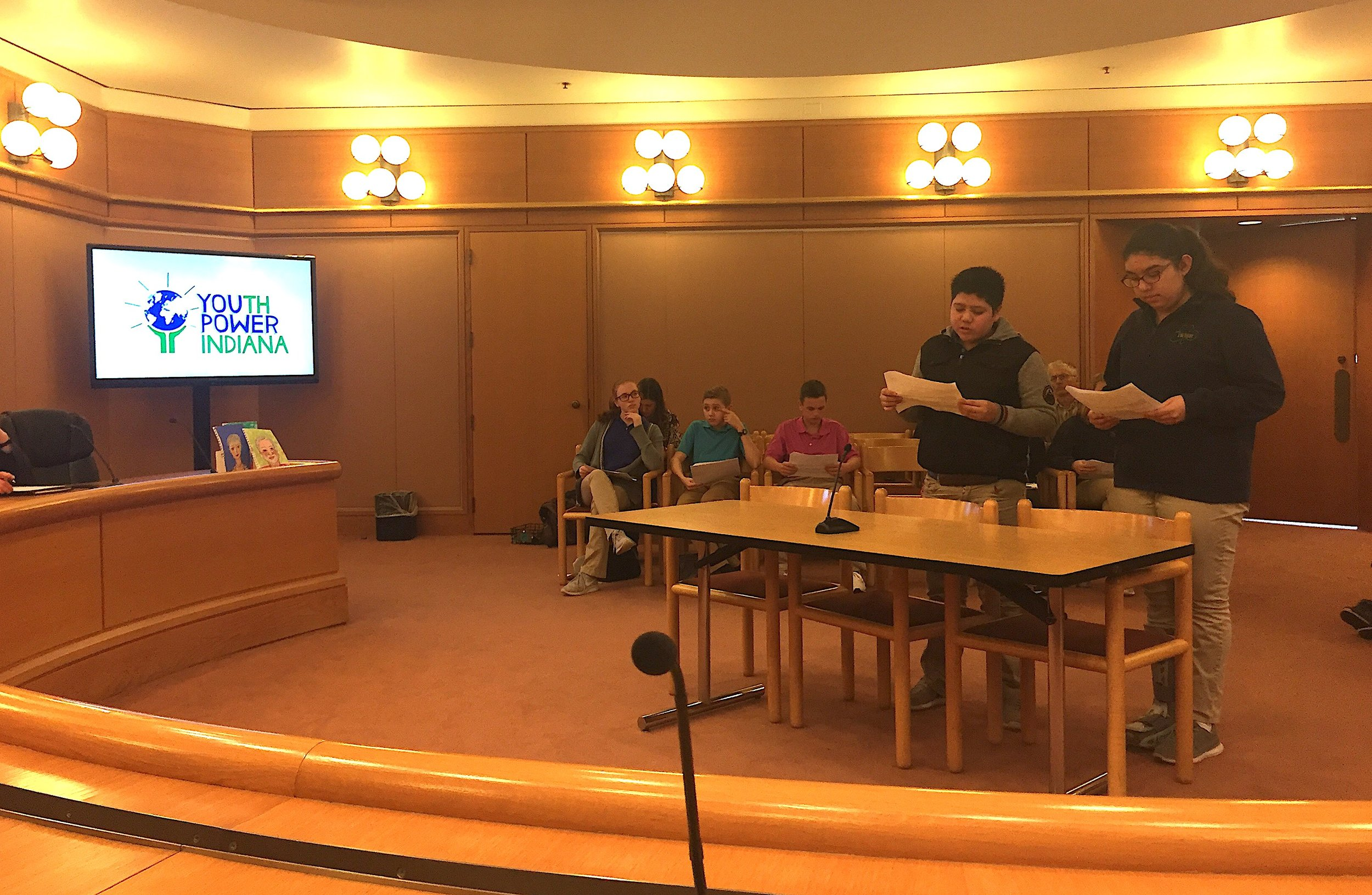 On Thursday, March 9, St. B students held a mock City Council meeting to practice their testimonials.