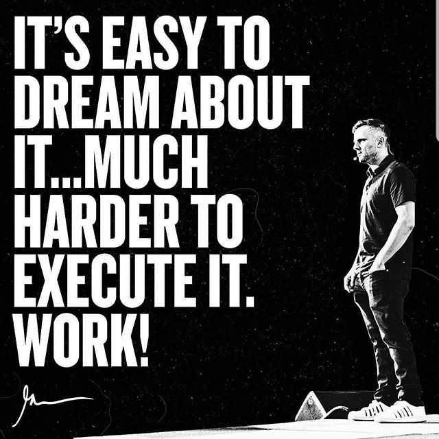 Good morning it's Monday, and another day to work towards your goals. Use this quote from @garyvee to fuel your drive.  #makeshithappen #stayfocused #learnandgrow #enjoylife