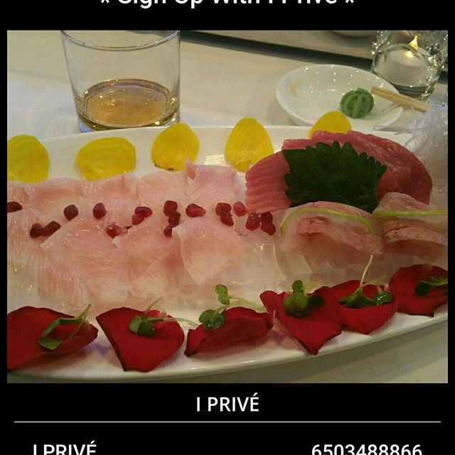 Sashimi plate at #iprive #foodie #sushi