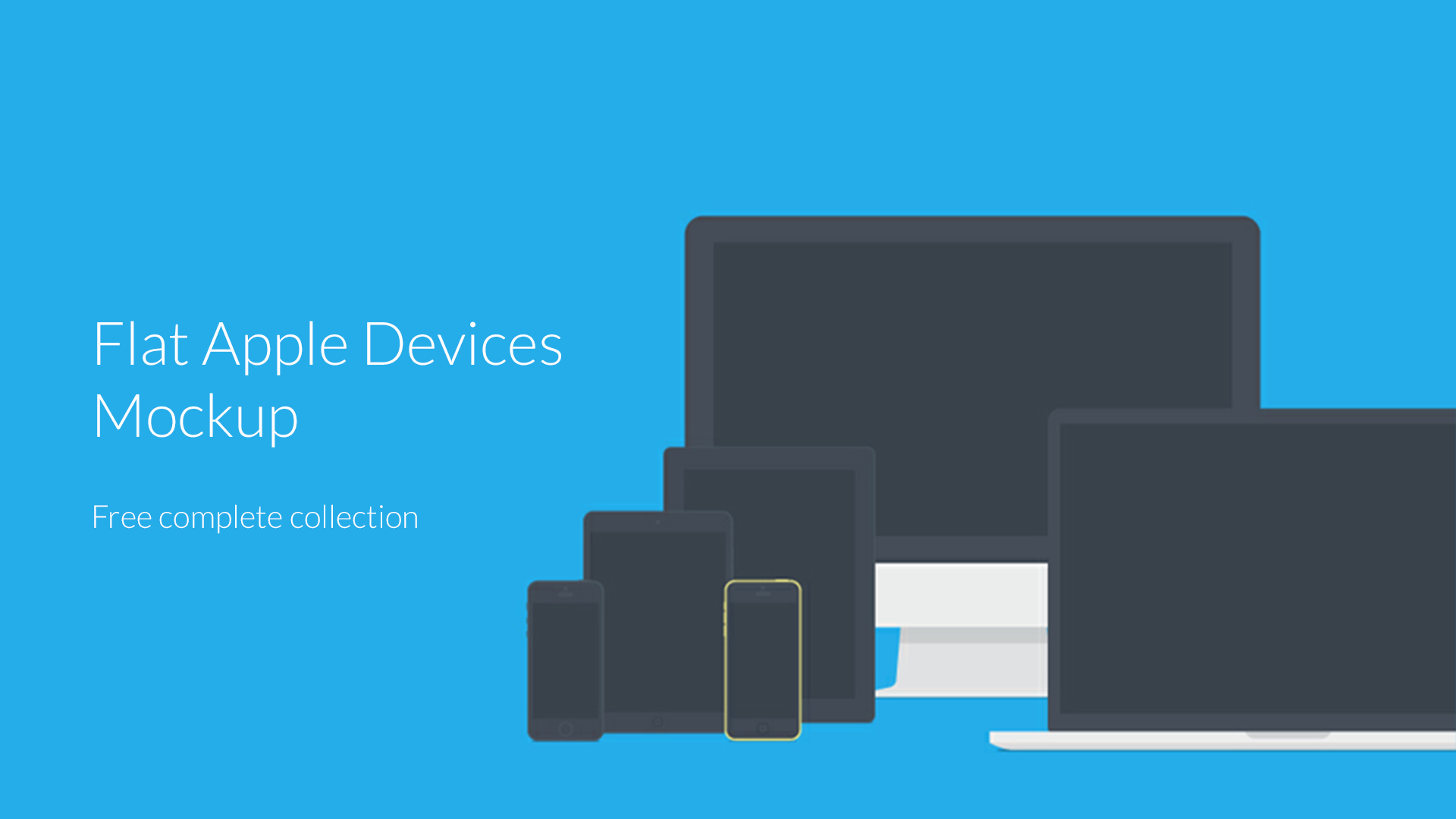 FREE Flat Apple's Devices Mockup