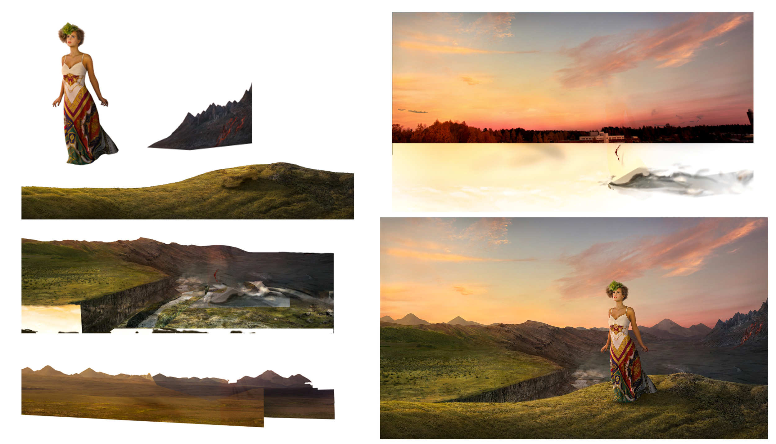 A quick PSD-breakdown of the final photo.