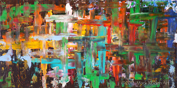 "Social Barrier - 24""x48"" on wood panel, 2012"