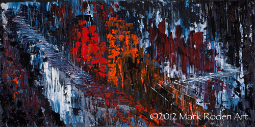 "'27 Trail, 24"" x 48"" Acrylic on Wood Panel, 2012"