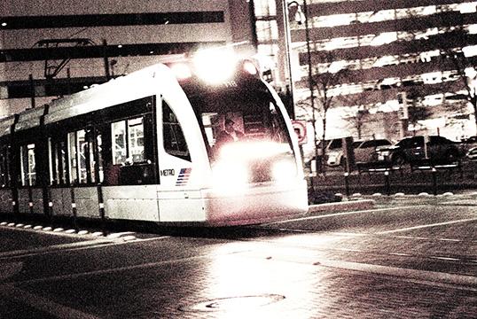 Houston Metro Train Downtown, 2010