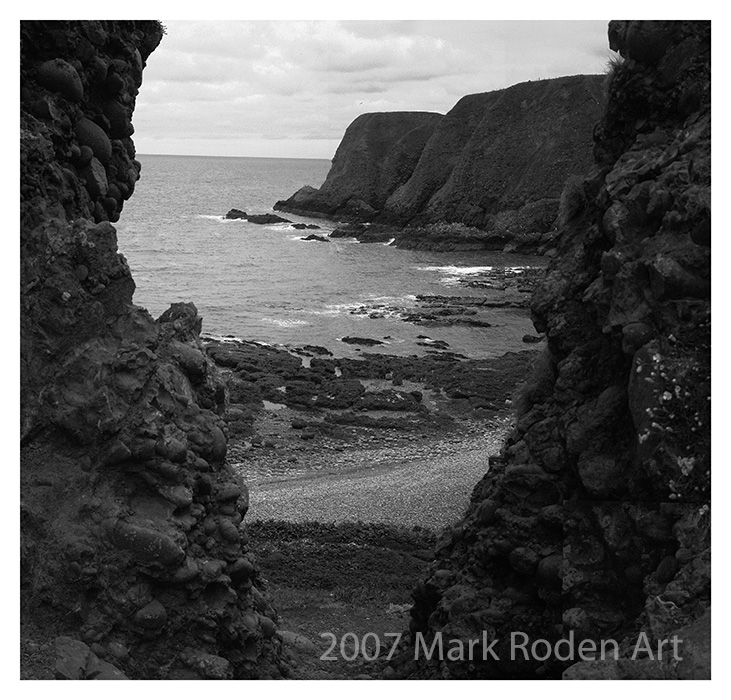 View from the path, Dunnottar Castle
