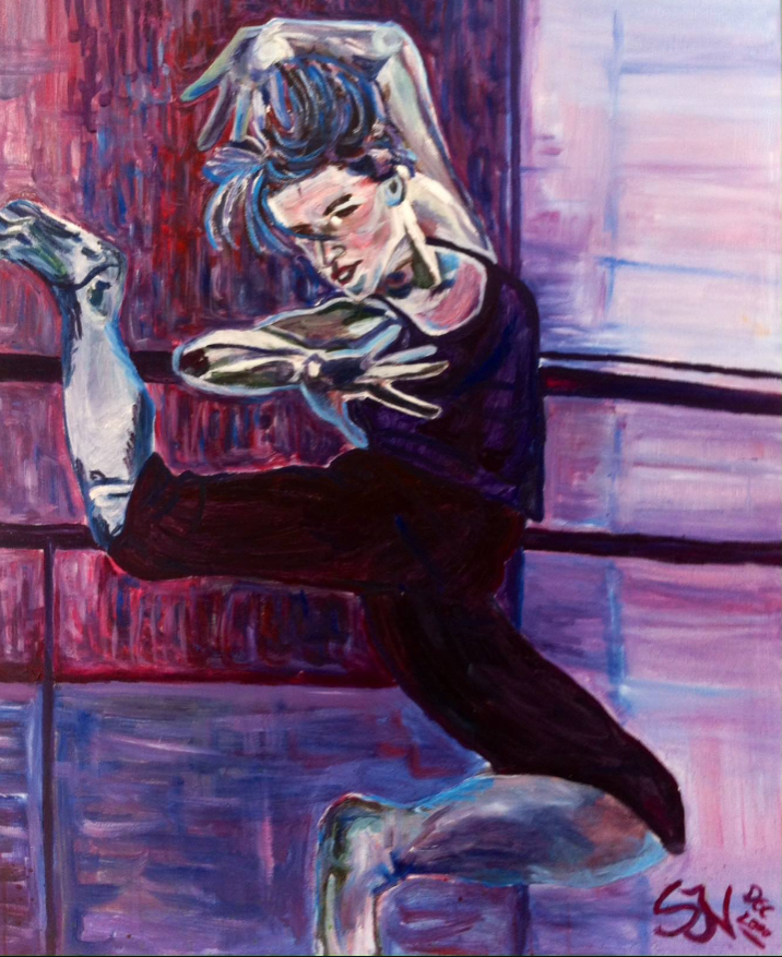 """Joy of dance"" Painting by JVS. Dec 2000"