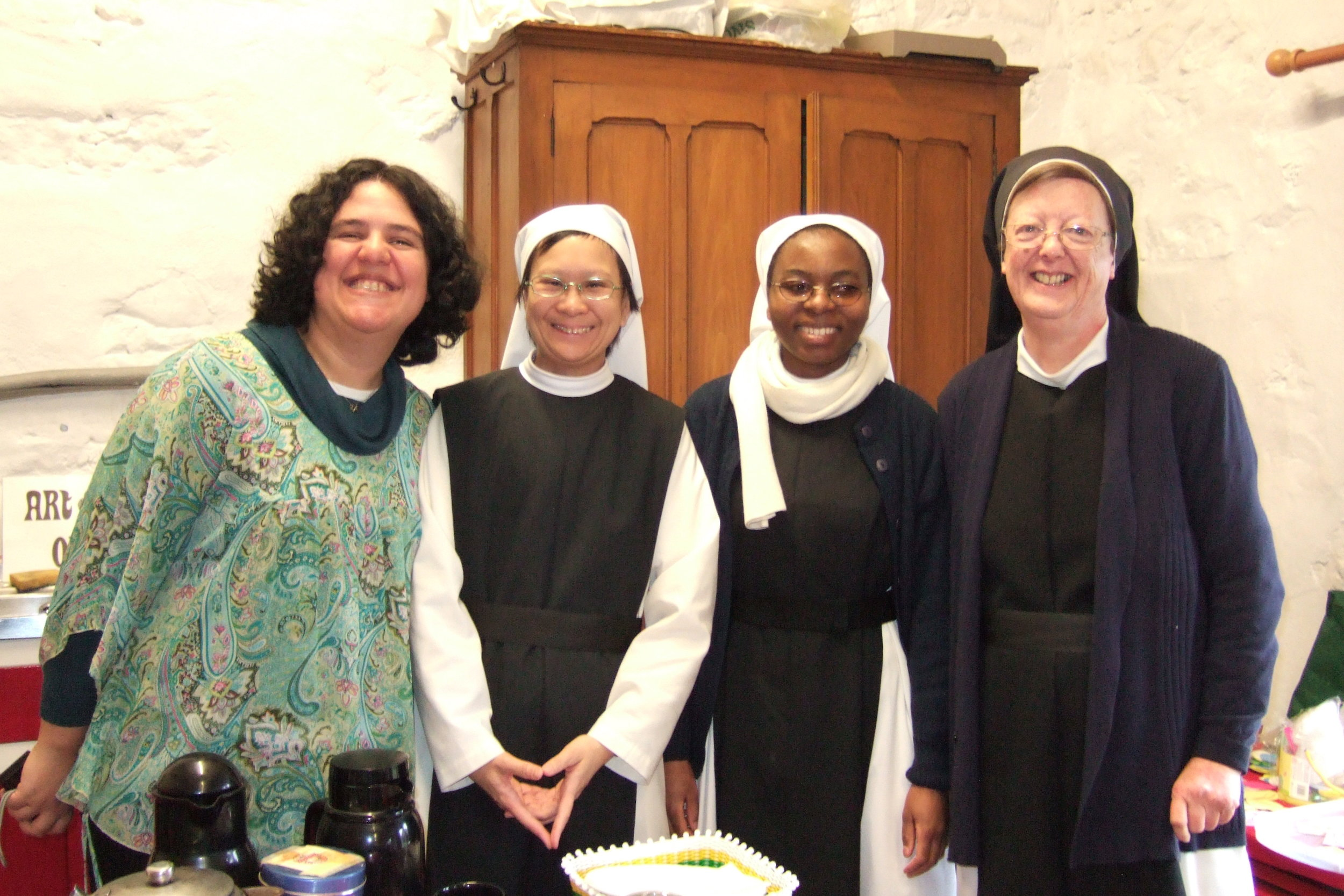 Members of the novitiate with the superior of Hyning