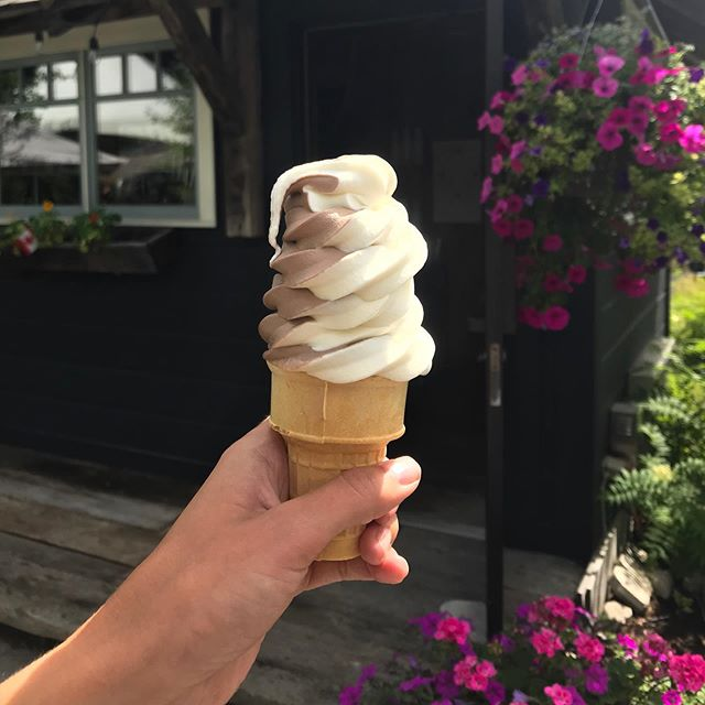 Stop by our patio and check out Sweet Niblets! Crossroads very own premium ice cream shop. Open 12pm-8pm Wednesday -Sunday  #icecream #muskoka
