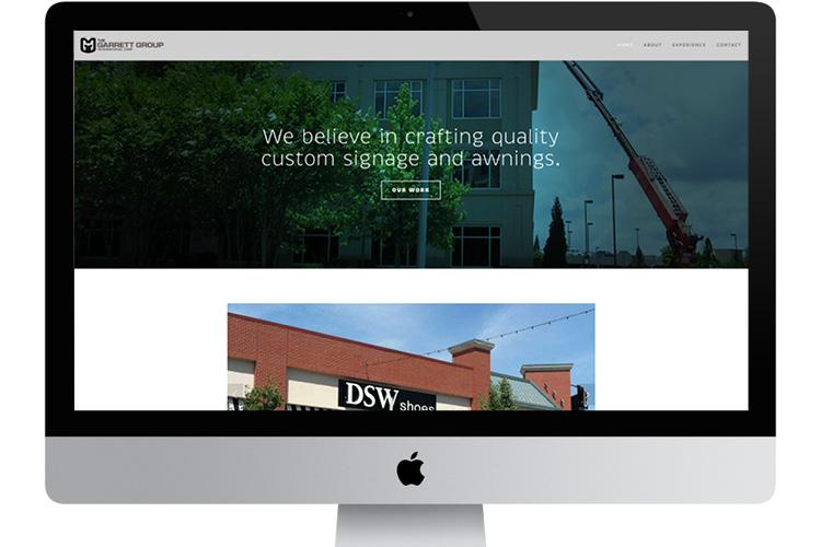 The Garrett Group website, built with a Squarespace template:  http://www.ggic.net