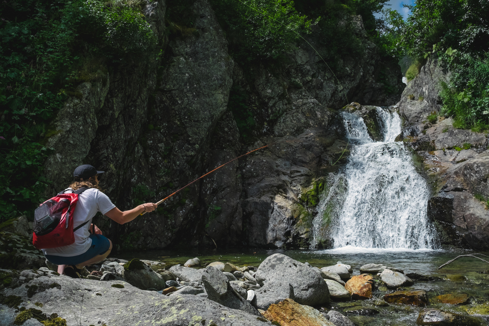 Lars Reber from Tenkara Rod Co. lost in the Swiss Alps.
