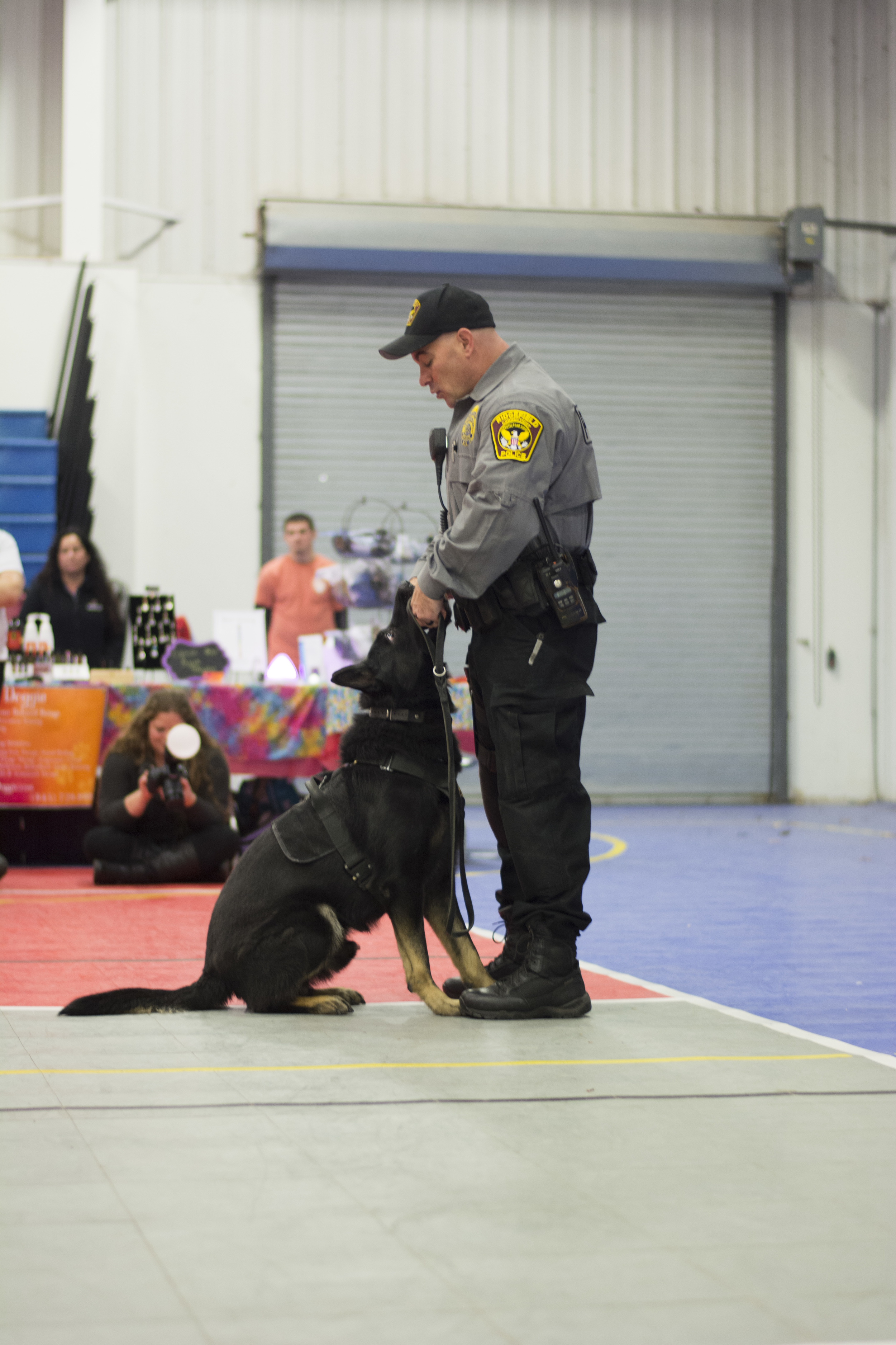 Officer from Ridgefield giving us a demo on K9 police dogs! Loki is an amazing police officer!
