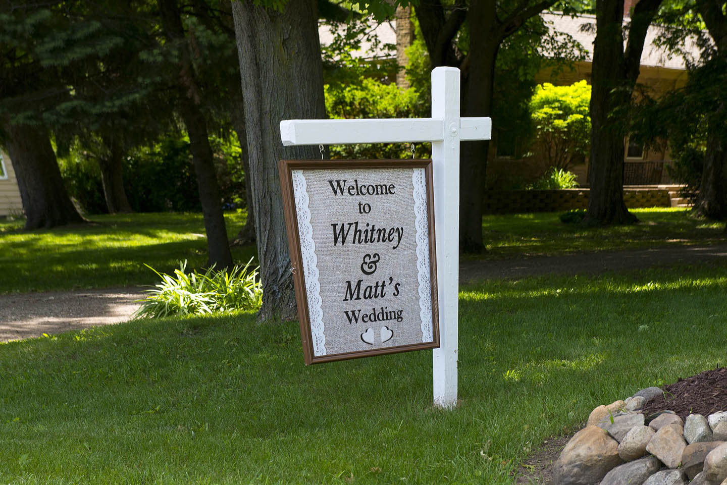 Welcome to Whitney & Matt's Wedding at the Eyry of the Eagle Farm Reception Center