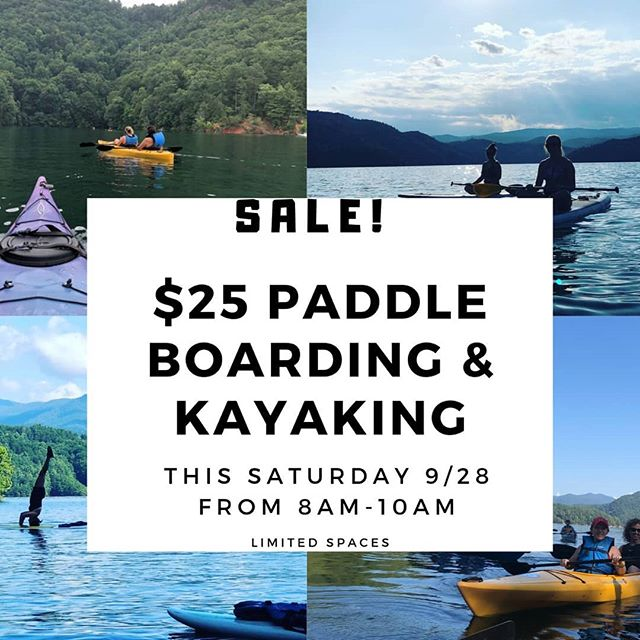 THIS SATURDAY from 8am-10am all SUP and kayak rentals will be only $25!! We will be parked at the furthest day-use ramp (motorized and non-motorized). Come take advantage of this special offer!