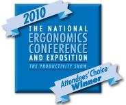 Attendees Choice Award - 2010 Ergo Expo.jpg