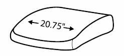 """Standard: 20.75"""" wide"""