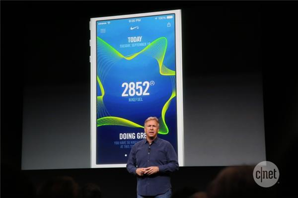 Phil Schiller at Apple introducing the Nike+ Move app at the launch of the iPhone 5S