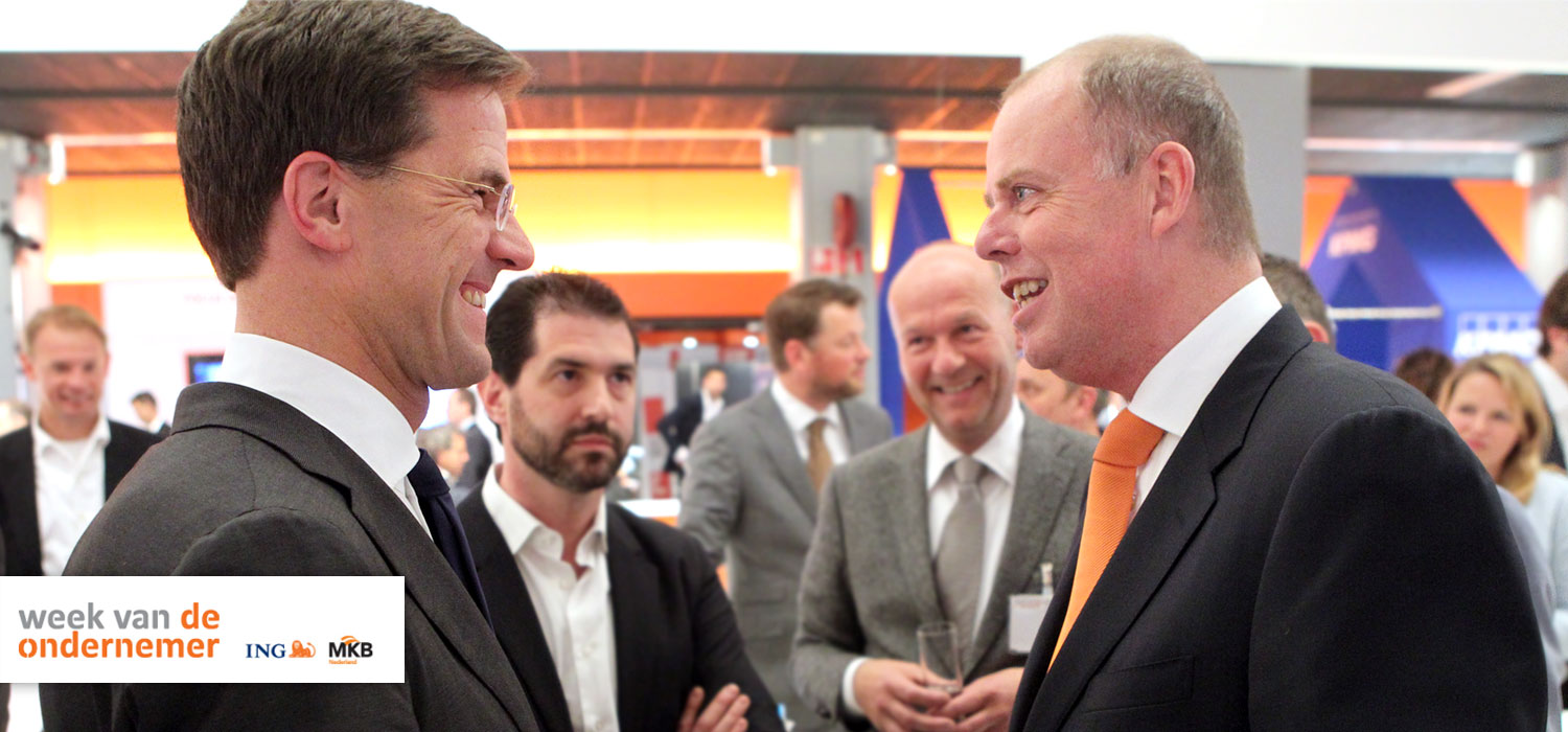 Dutch Prime Minister Mr Mark Rutte discussing StyleShoots with CEO Maurits Teunissen, April 10, 2014.