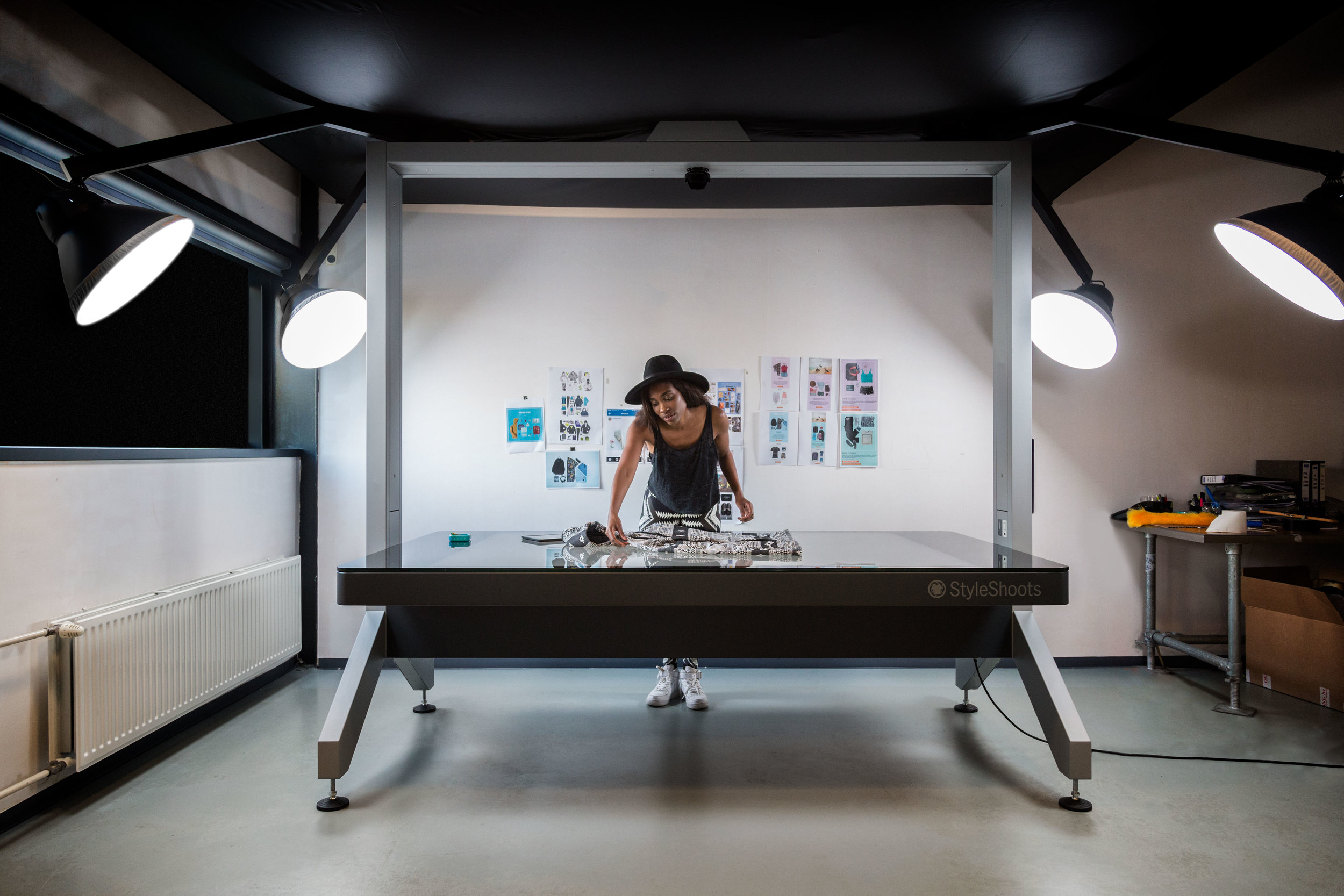 Safrien's busy studio holds both a StyleShoots Horizontal and Vertical machine to allow her complete creative freedom over her product photography.