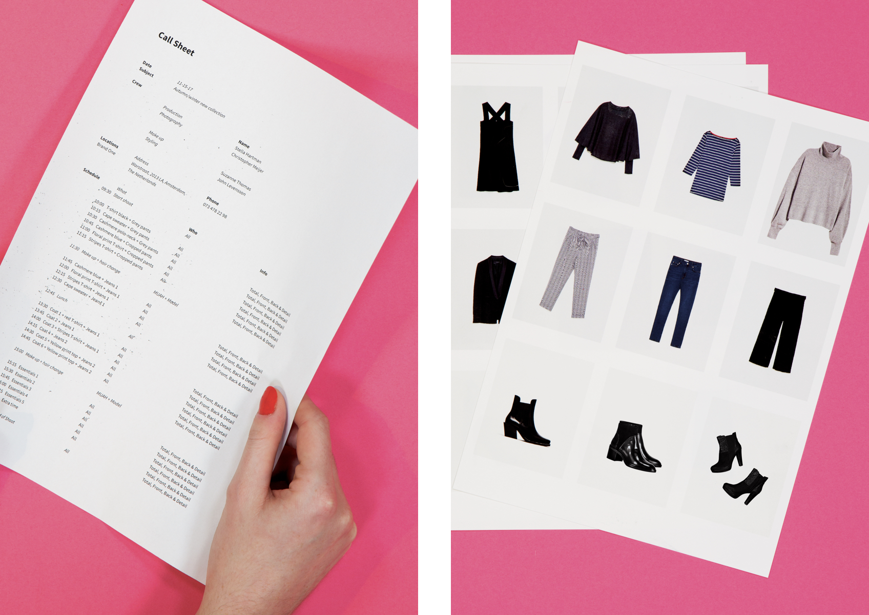 style guide professional product photography