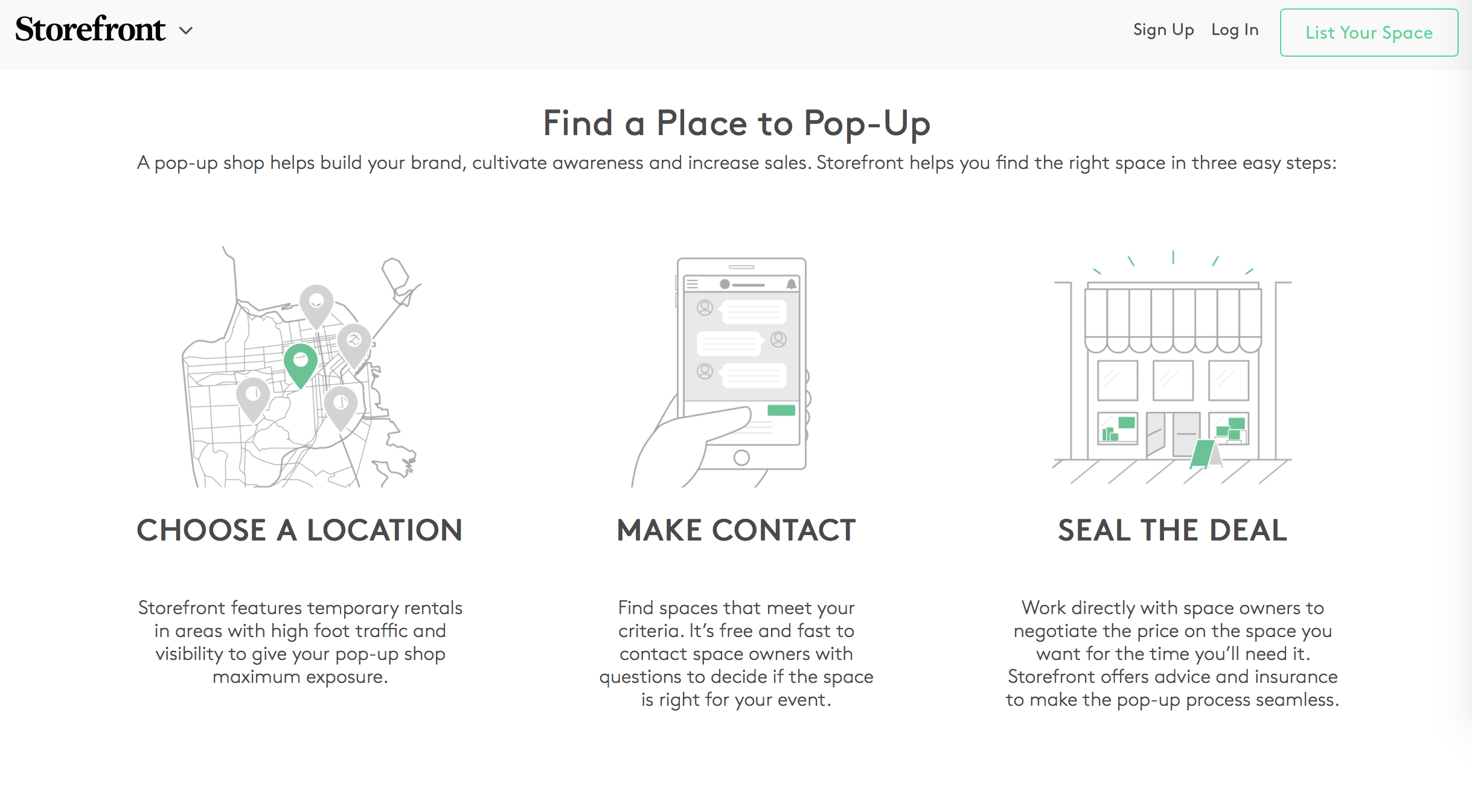 Storefront.com Site Copy