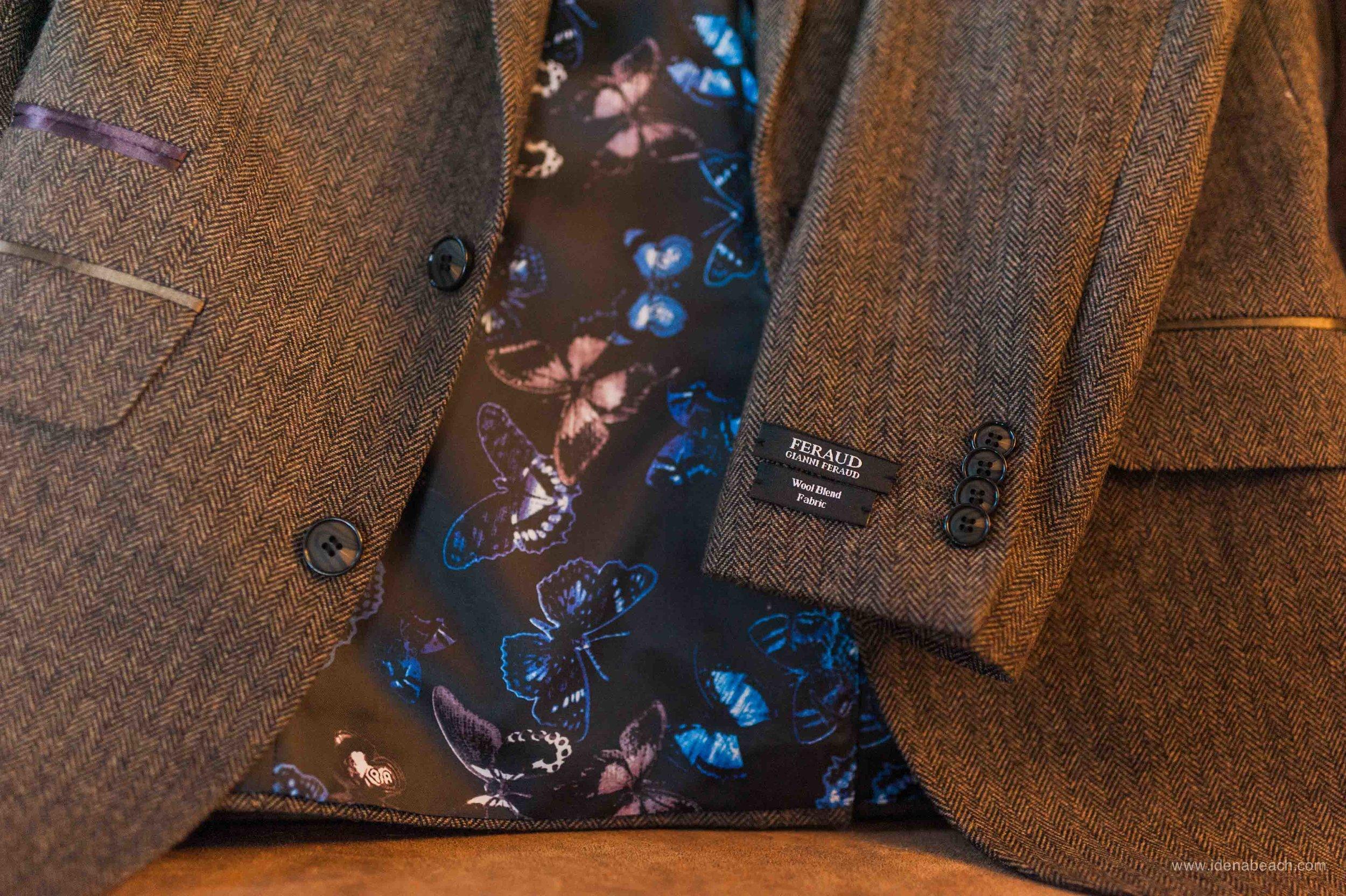 Gianni Feraud Herringbone Suit