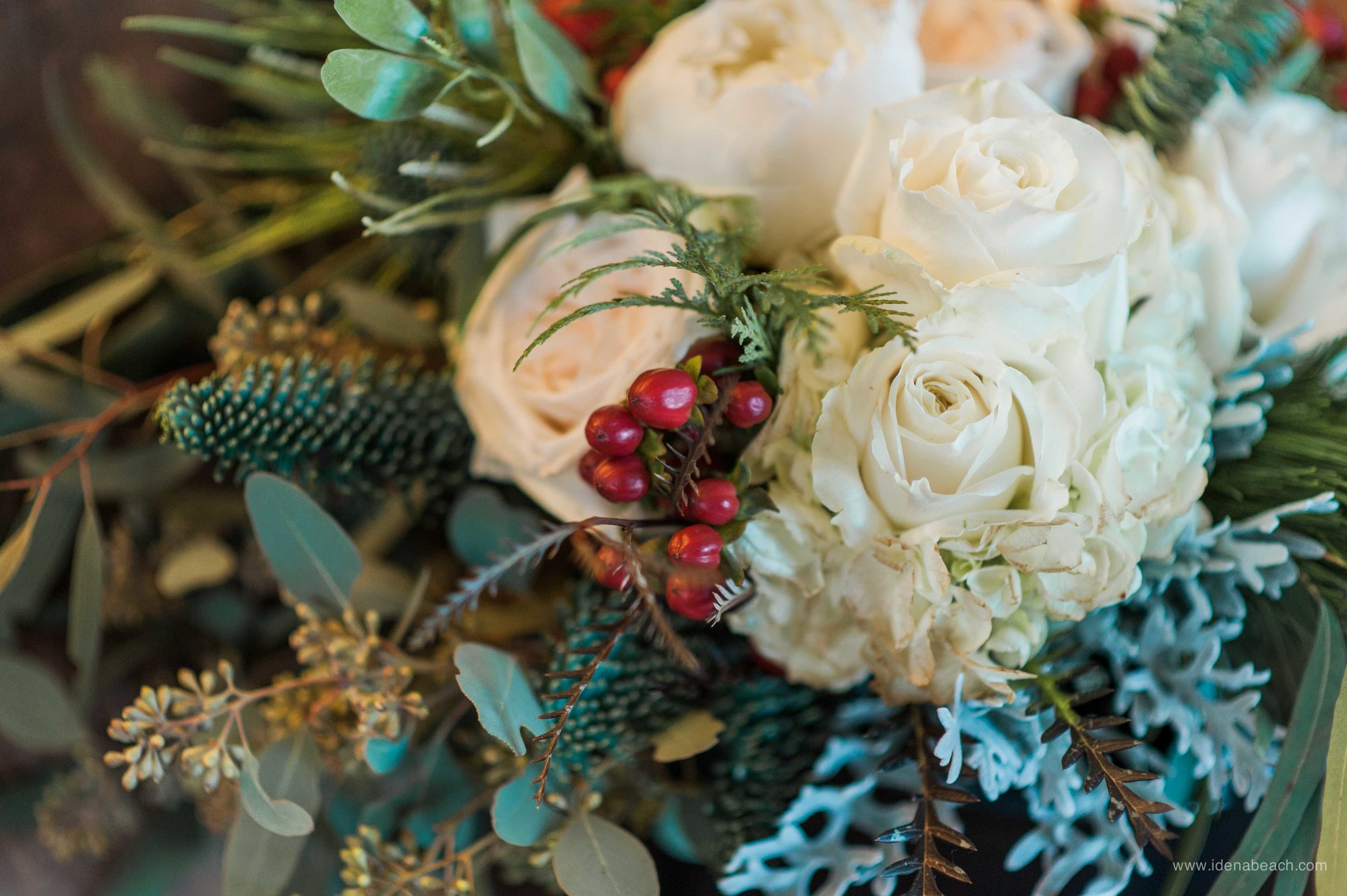 Winter Wedding Bouquet By Meadows Edge