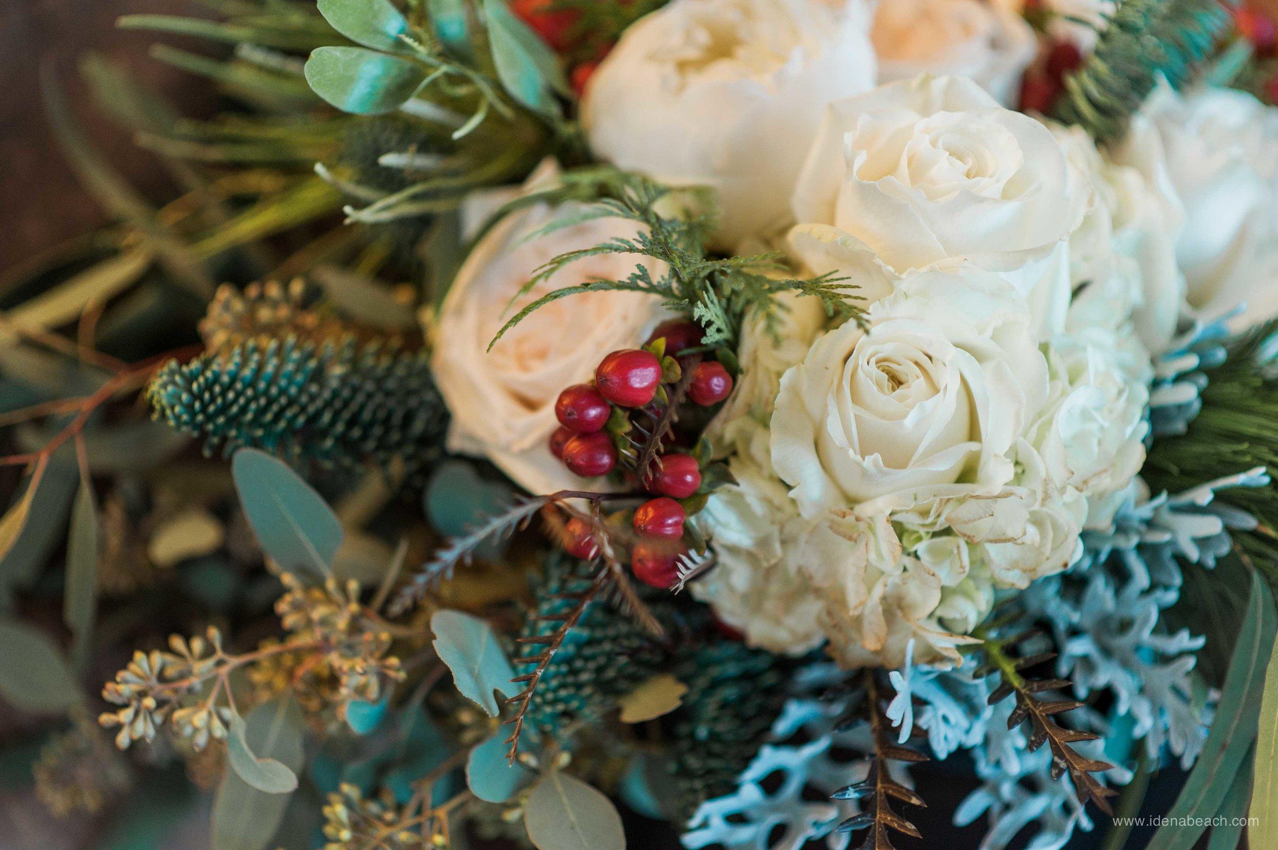 Winter Wedding Bouquet By Meadows Edge