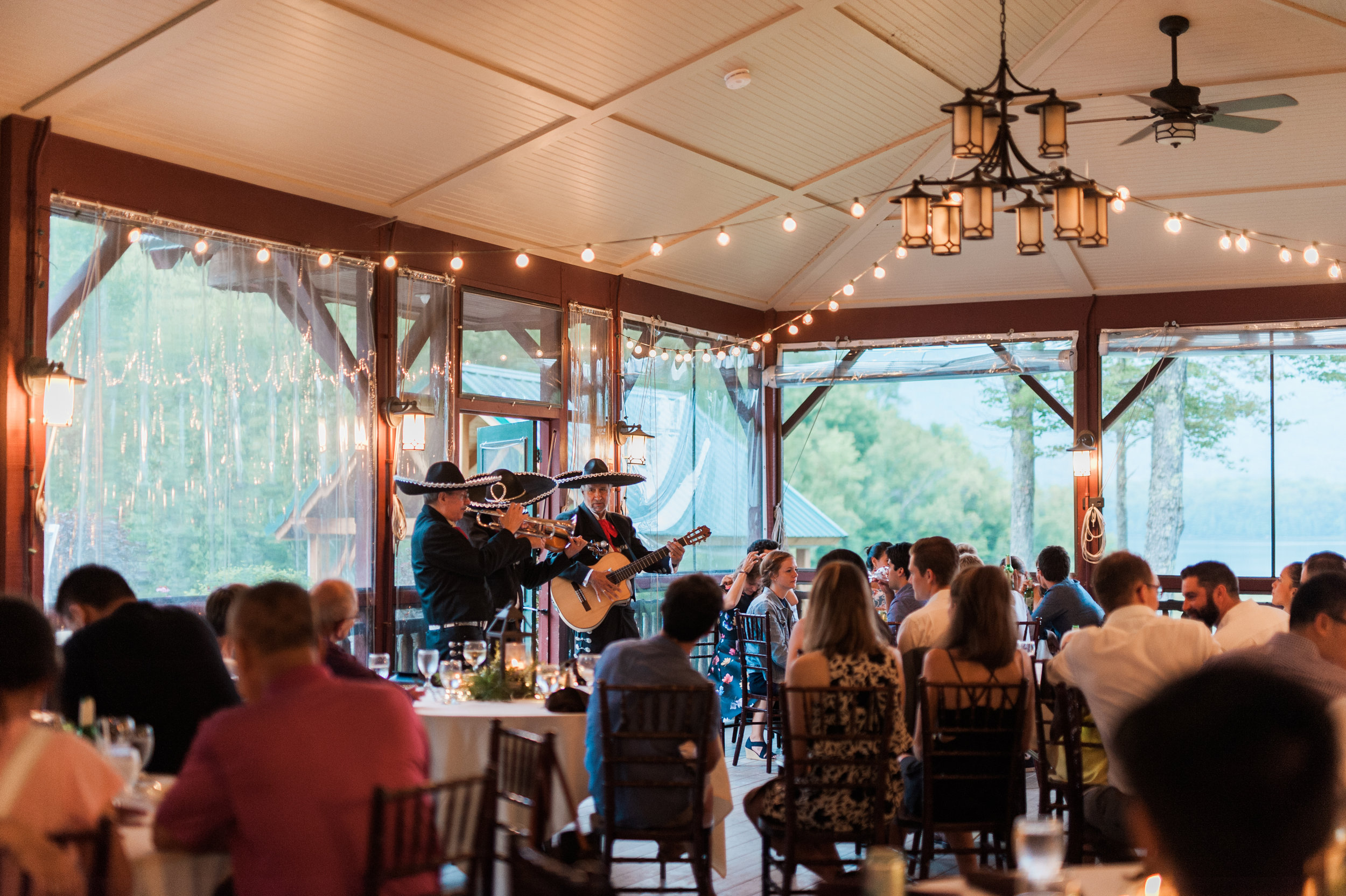 Surprise mariachi band performance during rehearsal dinner