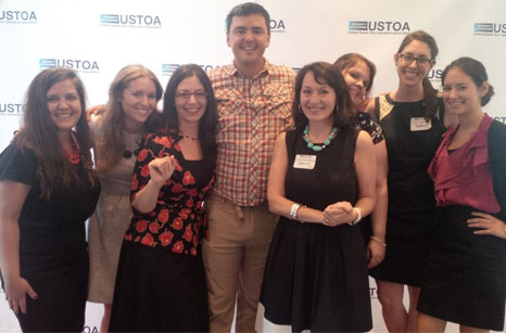 Some of the Redpoint gang last night with our viral video hero, Matt Harding. Awww.  Click to watch the video .