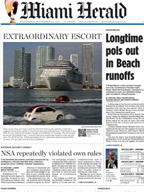 MSC Cruises - Miami Herald - Cover