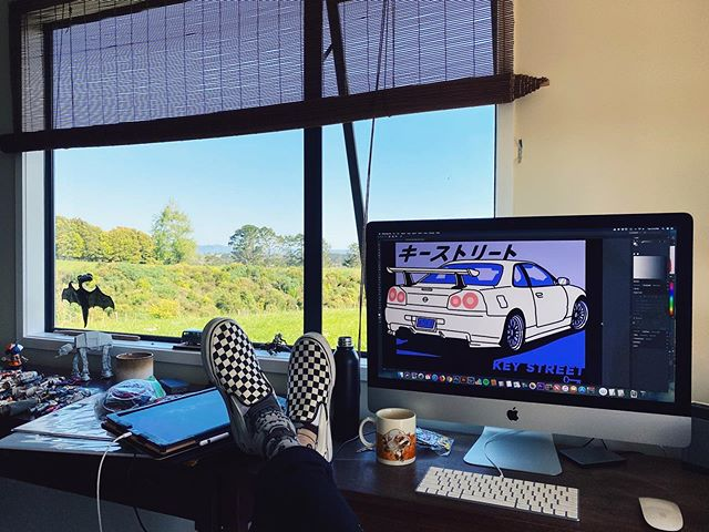 New and improved view from the Key Street HQ design desk.  Not mad about it!