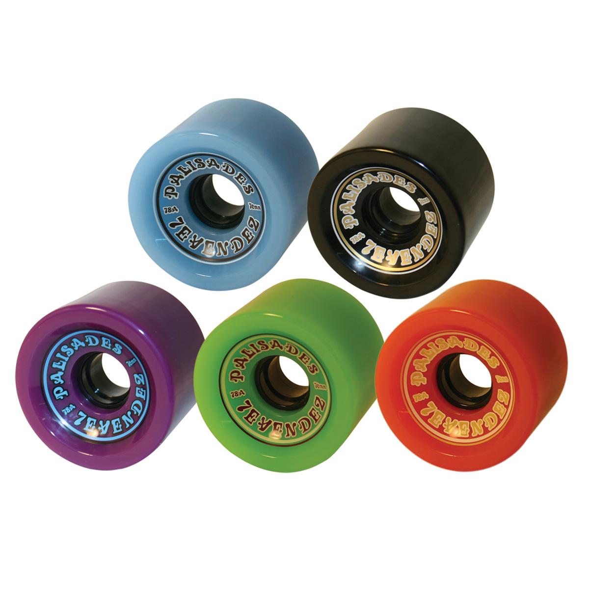 7evendez - 70mm Wheels  78A w/hub. Blue, Black, Purple, Green, Orange