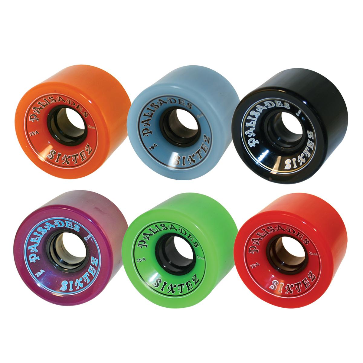 Sixtez - 60mm Wheels  78A w/hub. Orange, Blue, Black, Purple, Green, Red