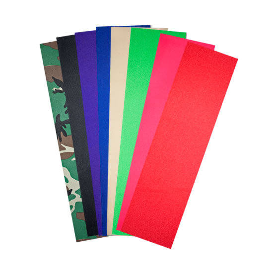 """Colored Grip Tape Sheets  9"""" x 33"""" - Camo, Black, Purple, Blue, Clear, Green, Pink, Red"""