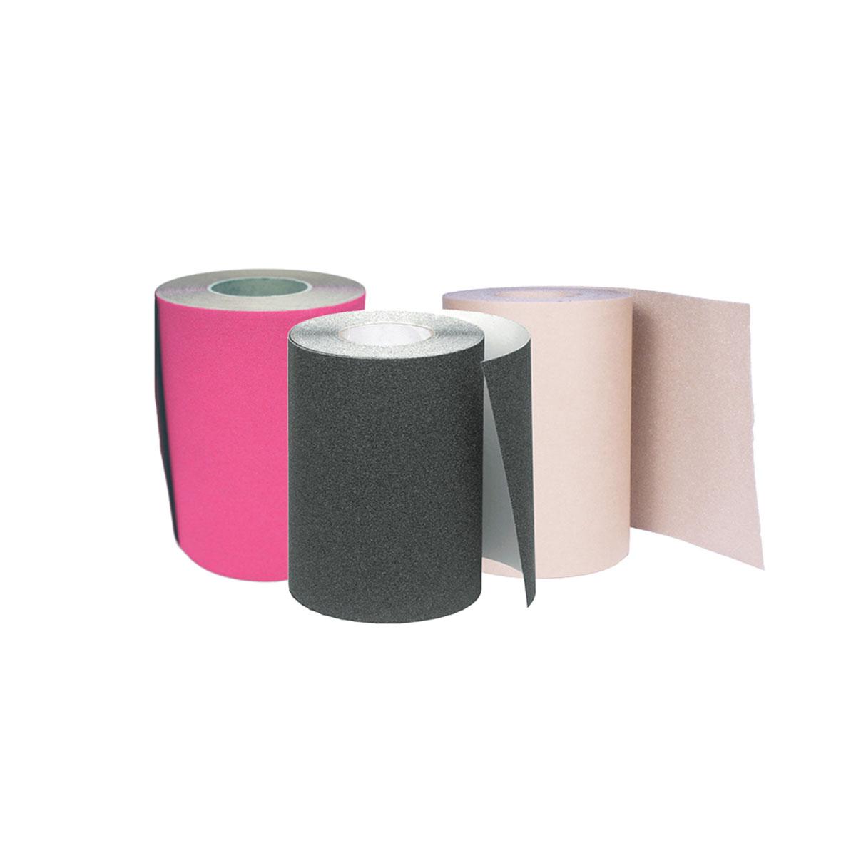 "Grip Tape Rolls - 60'  9"" Black, Pink 10"" Black, Clear"