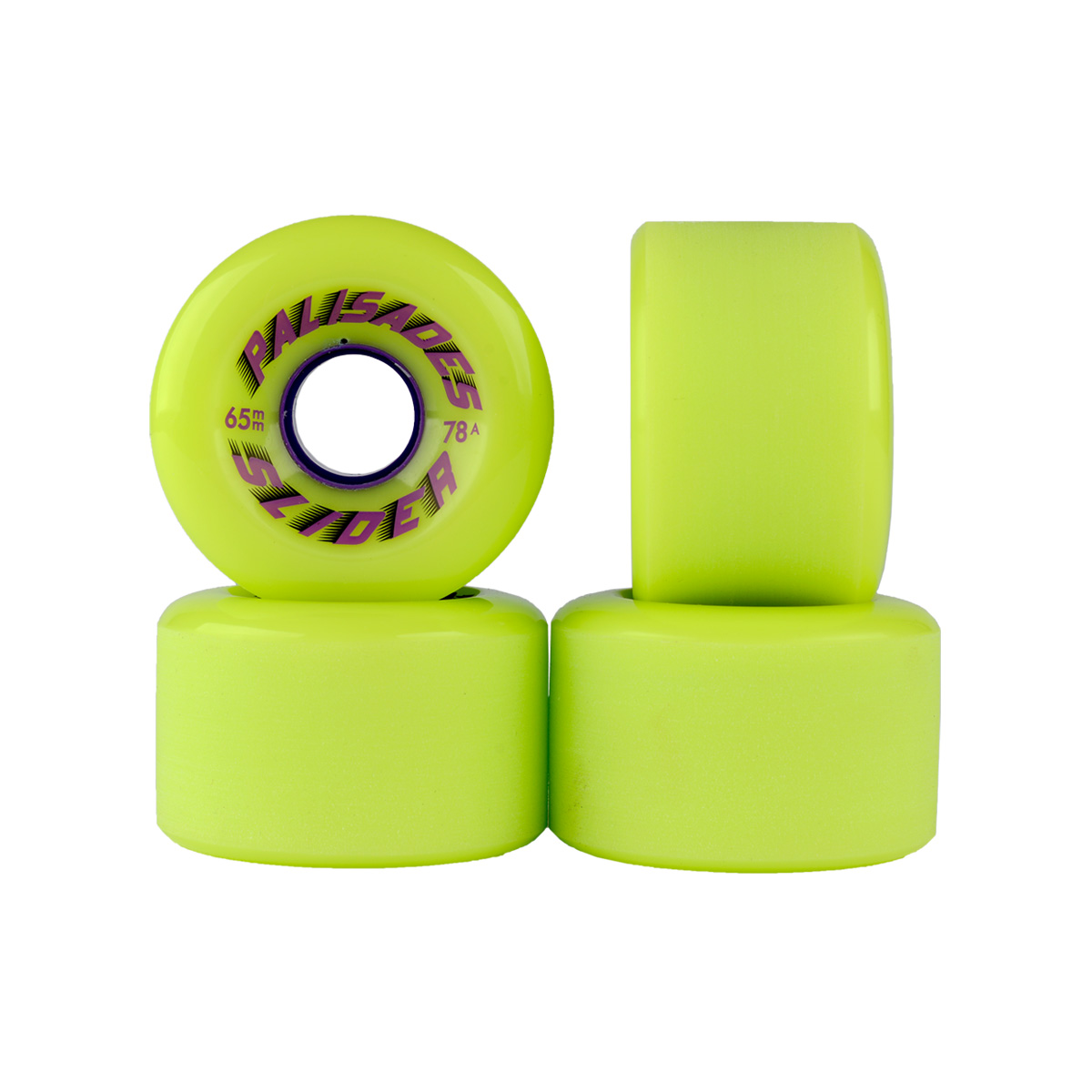 Stone ground center set w/radial edges. Lime