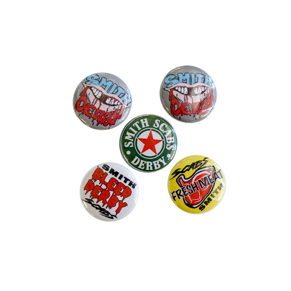 "1"" Derby Buttons 5 Pack"