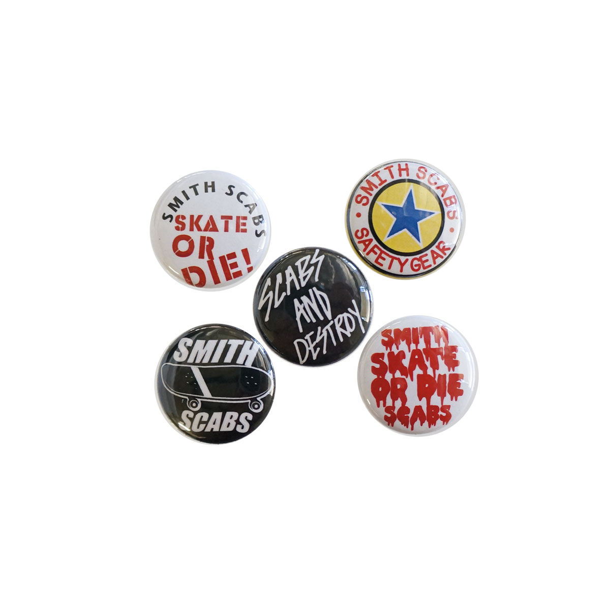 """1"""" Skate Buttons 5 Pack"""