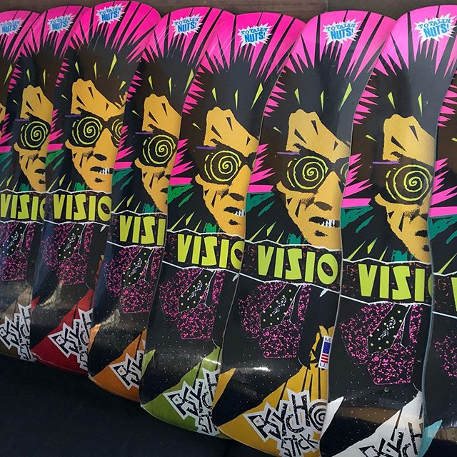 Vision skateboards-Here's looking at you!  #psychostick #visionskateboards #oldschoolskateboarding #classic