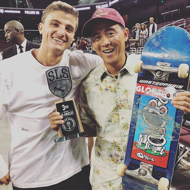 Congrats Vinny @vincentmilou on battling your way up to 🥉 @sls That flawless Hardflip BS Lipslide was incredible! Bravo to @yutohorigome 🥇 & @maurcoy 🥈 You guys killed it!!! 🔨🔨🔨@willysworkshop #willysantos