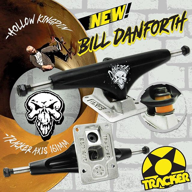 Tracker 161 mm Axis Bill Danforth- order them up...#trackertrucks #billdanforth #skateboardtrucks