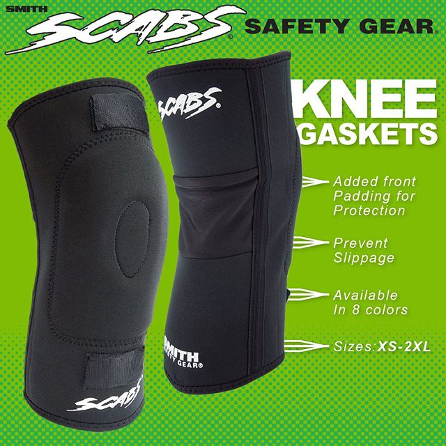 Get extra Cush with Scabs knee gaskets. www.scabs.com  #scabs #skate #protection
