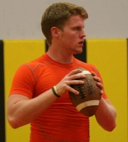 Quarterback Augie DeBiase (photo courtesy of DeBartolo Sports)