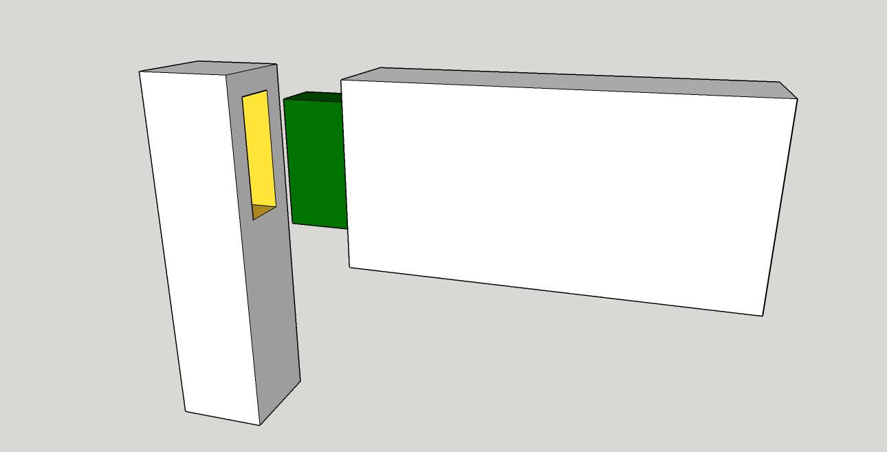 Tenon in Green, Mortise in Yellow