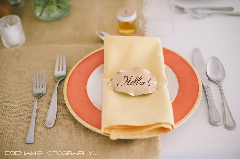 Place setting: Wallflower Design