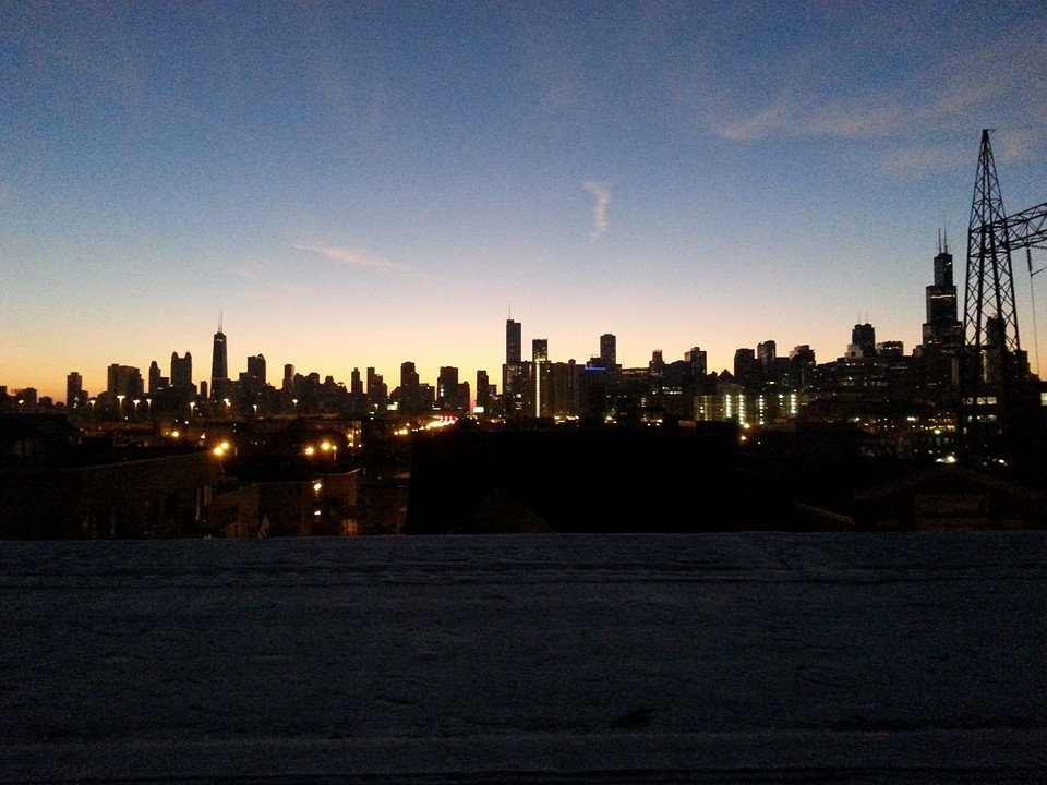 Griff here: This is what it looked like on my roof at 5 am.  No, I'm not complaining.