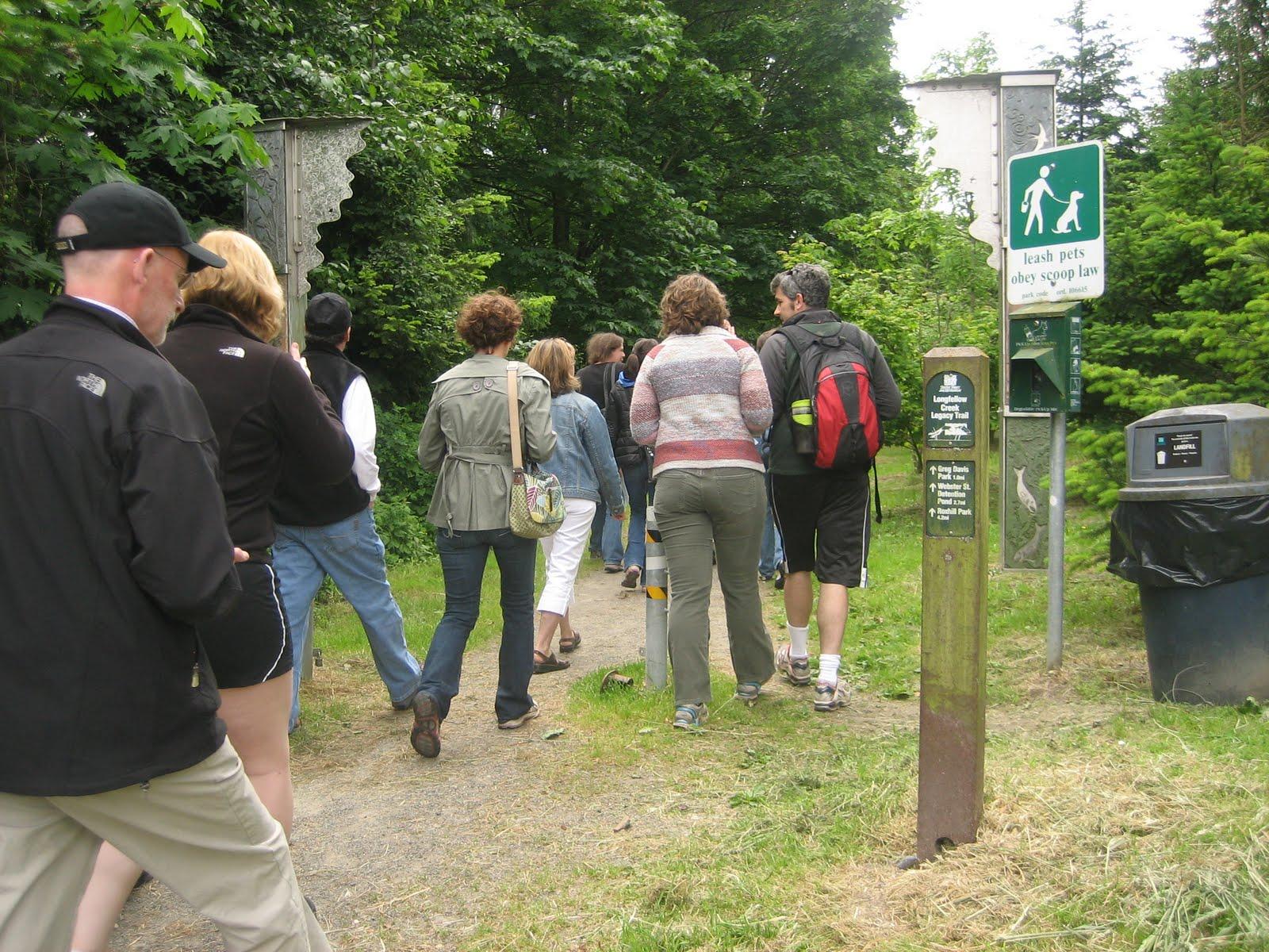 Longfellow Creek - people on trail.JPG