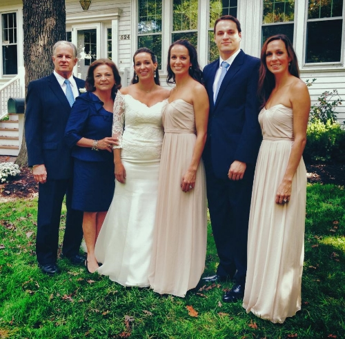 The Telander Clan:  My parents, sisters, brother and me before my little sister's wedding.