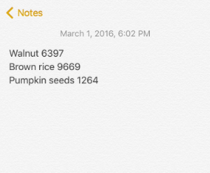 An example note from my phone
